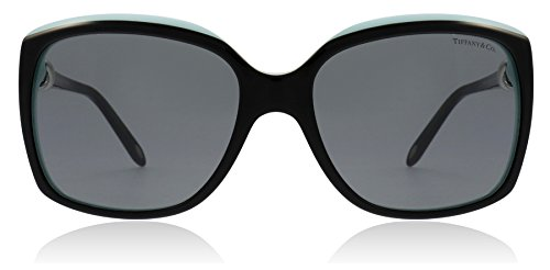 97a3a5743d63 Tiffany   Co Women s TF4076-80553F-58 Black Square Sunglasses. gray top  blackblue