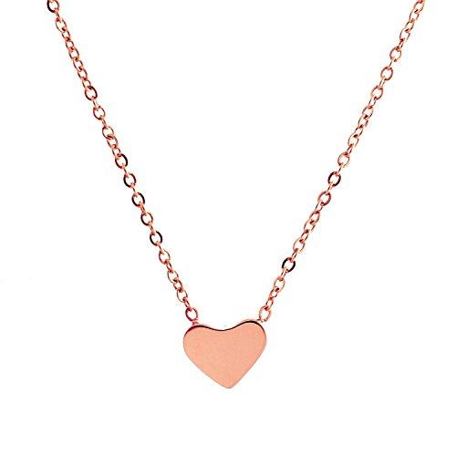 Stainless Steel Heart Pendant (Gold) - 3