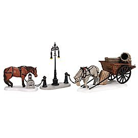 Dept 56 - Horses At the Lampguard - Retired - 58531 by Department 56