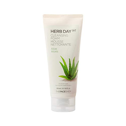 [The Face Shop] Herb Day Cleansing Foam, Aloe (The Face Shop Herb Day Cleansing Cream)