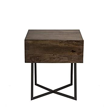 Jok Table.Amazon Com Hand Finished Iron Base End Table End Table With Wood