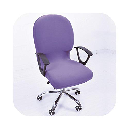 Fenyoung Swivel Chair Cover Stretchable Removable Computer Office Washable Rotating Lift Fping-2-Other