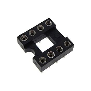2x7P 14-Pin Round DIP Socket For DIP14 Package Pack of 5