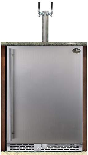 (Beer Meister dual tower with stainless door built-in kegerator - Premium Series)