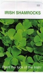 Set of 3 Lrg Shamrock Seed Packets (Best Weed Seeds To Grow In Ireland)