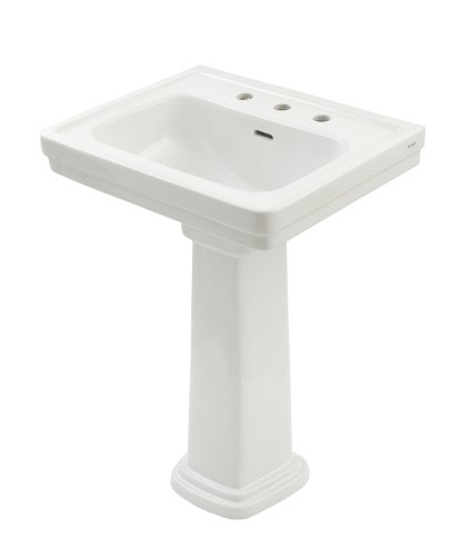 TOTO LPT532.8N#01 Promenade Lavatory and Pedestal with 8-Inch Centers, Cotton White, Deep (Lavatory 8in Centers)