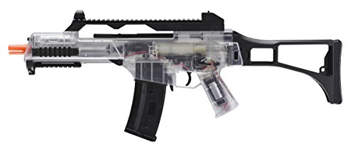 H&K Dual Power Electric Airsoft Rifle, Clear