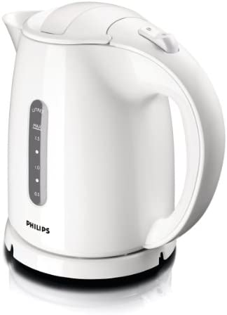 Philips HD4646/00 Serie Wasserkocher (1,5 Liter, 2400 Watt, Anti-Kalk), weiß
