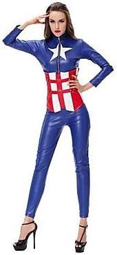 Mar Marineros de CAPTAIN America adultos Azul Mujer Disfraz de ...