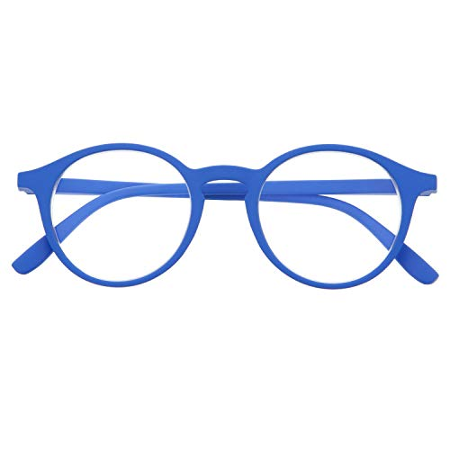 (Reading Glasses for Men and Women. Blue Light Blocking Computer Readers. Rubber Touch Flexible Temple and Anti Glare Glasses. Klein +2.5 - UFFIZI)