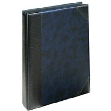 Exacompta Goldline 229 x 185 mm Half Bound Blue Telephone//Address Book 3 D-Ring
