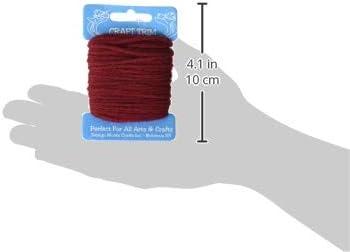 Darice 455747 Craft Yarn 20 yd Wine