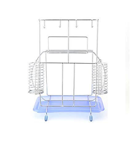 Stainless Steel Refrigerator Finishing Frame - Multi-Purpose Storage Rack Stainless Steel Kitchen Storage Rack Knife Holder Chopping Board Shovel Spoon Wine Glass Vegetable and Fruit Rack Multi-Function Finishing Rack Family Expenses
