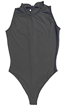 LinvMe Women's Sexy Bodysuit Thong Leotard Sleeveless