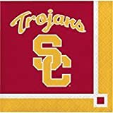 Club Pack of 240 NCAA USC Trojans 2-Ply Tailgating Party Beverage Napkins