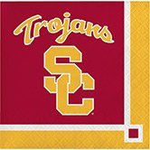 Club Pack of 240 NCAA USC Trojans 2-Ply Tailgating Party Beverage -