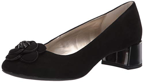 Anne Klein Women's HIRA Pump, Black Suede, 7.5 M US