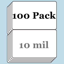 10 Mil Butterfly Pouch Laminates - 100 Pack
