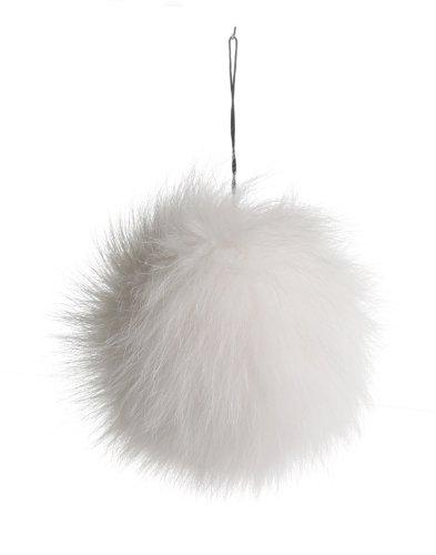 "URSFUR Fox Pompon Fuzzies Fox Fur Ball Use for Mobile Strap Coppia Keychain Multicolor 4"""