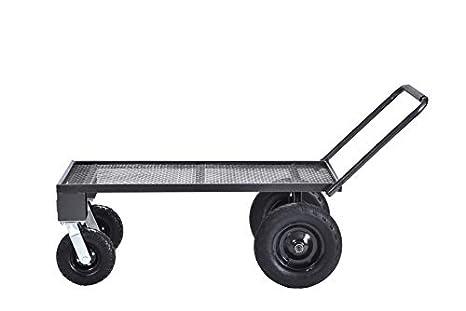 Muscle Carts FW4824,SV Steel Utility Flat Garden Wagon