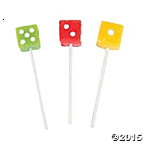 Dice Suckers - Dice Lollipops - Casino Suckers - 1 Dozen