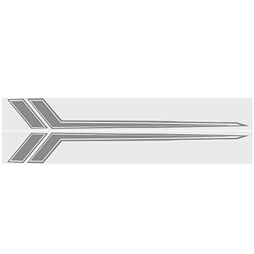2pcs Universal Car Body Rally Graphic Decal Sticker Racing Stripes Cover for Camaro ()