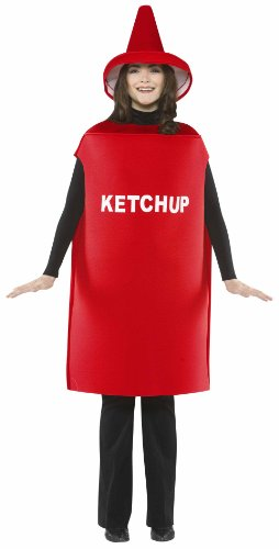 Rasta Imposta Lightweight Ketchup Costume, Red, One Size (Hot Costumes For Couples)