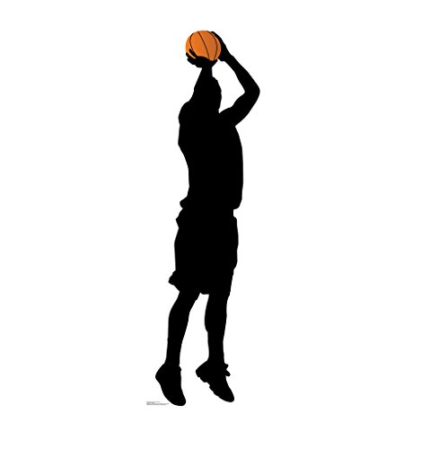 Baskeball Player Shooting Silhouette - Advanced Graphics Life Size Cardboard Standup (Silhouettes Sports)