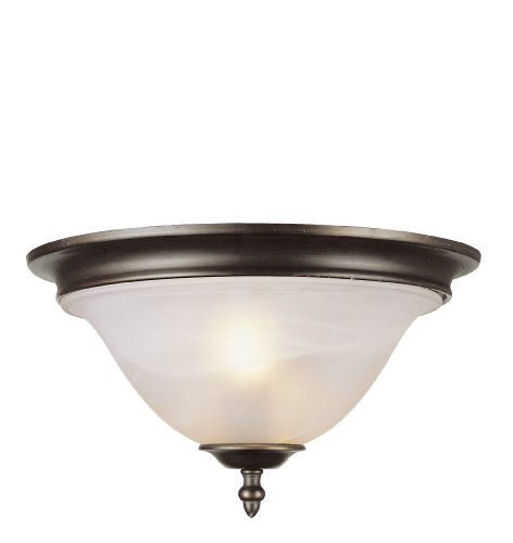 Trans Globe Lighting 6390-1 PW Indoor Symphony II 13'' Flushmount, Pewter by Trans Globe Lighting (Image #2)