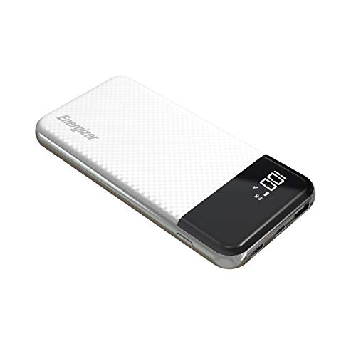 - 10,000 Series Fast-Charging Power Bank with 2 USB Ports (Black)
