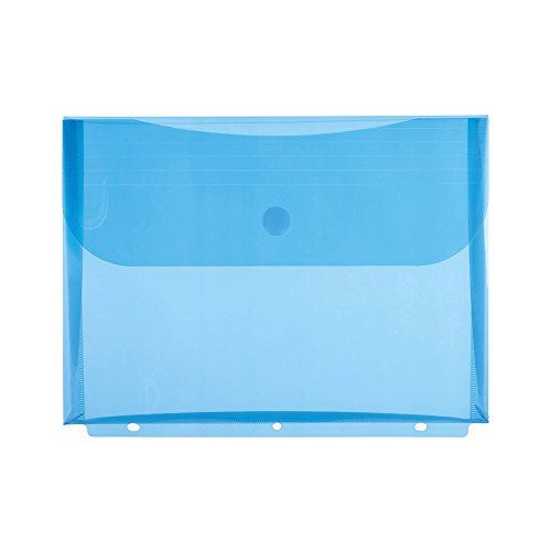 Filexec Poly Envelope, Letter, Side-load, Velcro Closure, 3-Hole Punched, Blue (Pack of 12) (50084-17221) ()