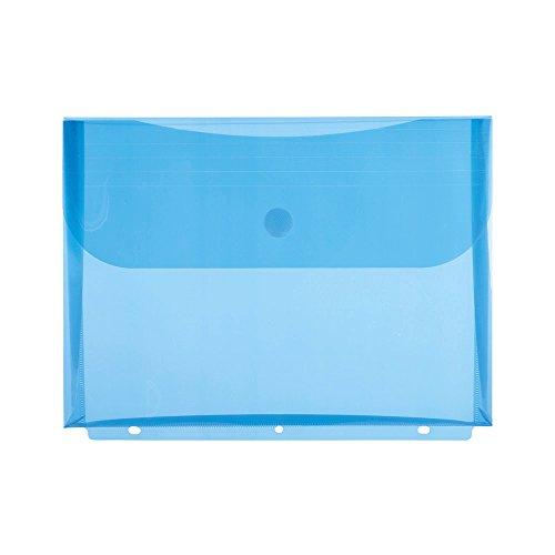 Envelope Closure Velcro (Filexec Poly Envelope, Letter, Side-load, Velcro Closure, 3-Hole Punched, Blue (Pack of 12) (50084-17221))