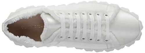 Donne Stuart Seta Di Weitzman Raso Delle Sneaker Bianco Fringiecoverstory r8BnF8wxpq