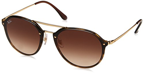 Ray-Ban 0rb4292n710/1362blaze Doublebridge Square Sunglasses, Light Havana, 62 mm by Ray-Ban