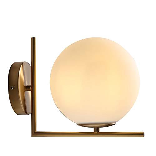 Blppldyci Modern Style Creative Art Spherical Wall Lamp, Diameter 7.9