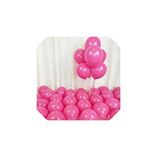 - 10pcs 12inch 5inch Rose Gold Confetti Balloon Latex Balloon Happy Birthday Baloon Wedding Decoration Ballon Event Party Supplies,Matte D25 LiRosRed,2.2g 10inch Balloon