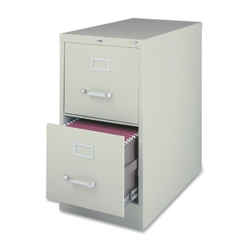 Lorell 2-Drawer Vertical File, Legal, 18 by 26-1/2 by 28-3/8-Inch, Light Gray by Lorell