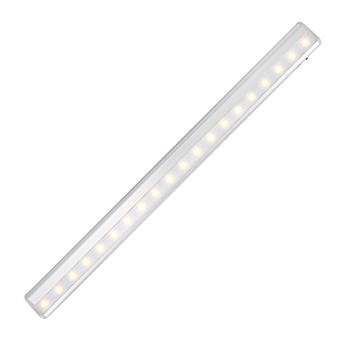 KEDSUM Rechargeable PIR Motion Sensor Cabinet Light 20-LED USB Charging Night Light/Stairs Light with Magnetic Strip,DIY Stick-on Wall Lamp for Kitchen Cupboard Closet Wardrobe -Warm White Lights