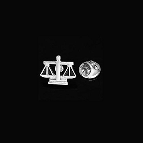 Scale Of Justice Judge Law Lapel Pin Tack Tie