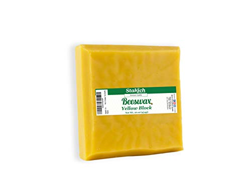 Stakich Yellow Beeswax Block - Natural 1 Pound