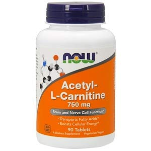(Acetyl-L Carnitine, 750 mg, 90)