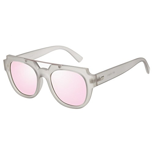 Le Specs Unisex La Habana Matte Mist/Peach Revo Mirror - Sunnies Le Specs