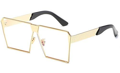 Fashion JUNHONGZHANG Metal Sol De Ladies Caja De Gafas re Gafas I Sol Decorativos Gafas Gafas Resina De wX8rwAx