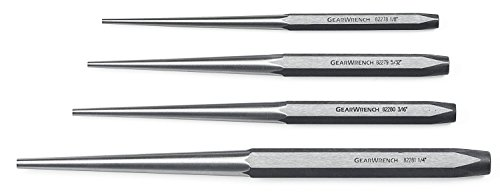 (GEARWRENCH 82307 4 Piece Long Taper Punch Set )