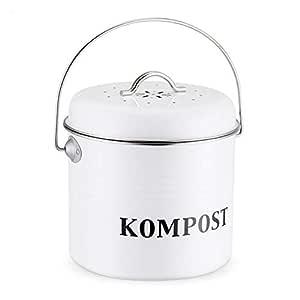 circulor Cubo para Compost De 5 litros - Cubo De Cocina Retro con ...
