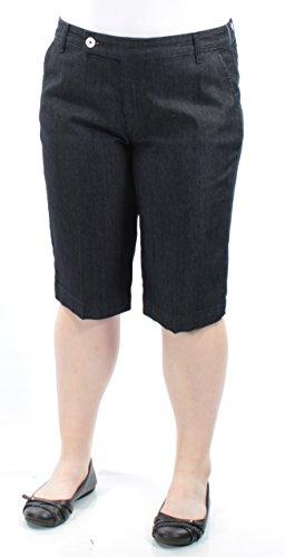 Style & Co. Women's Denim Rinse Wash Bermuda Shorts,Tummy Control ,Mid Rise,14
