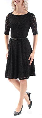 S 99 B Petites Flare 1260 Fit Dress Womens Charter B Belted Club New Black wOa6fvq