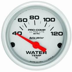 - Auto Meter Ultra-Lite Analog Gauges Gauge, Ultra-Lite, Metric Water Temperature, 40-120 Degrees C, 2 1/ 16 in., Analog, Electrical, Each