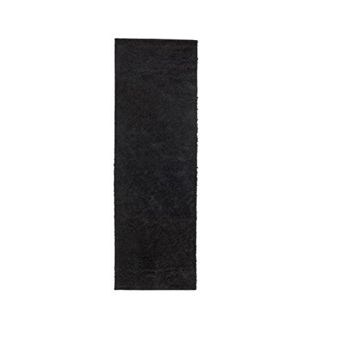 Diva At Home 2.6' x 8' Staid Luxury Eternal Black Decorative Area Throw Rug Runner by Diva At Home