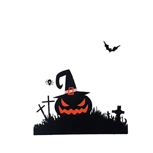 (LUOEM 100pcs Packs Halloween Treat or Trick Goodie Bags Mini Candy Bags (Black Pumpkin)